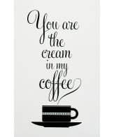 Coffee and you. This would be fun kitchen art :)