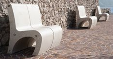 #GEA #benches #Bellitalia very elegant street furniture solution. #concrete and…