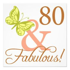 80 And Fabulous Birthday Gifts (Autumn) Invites