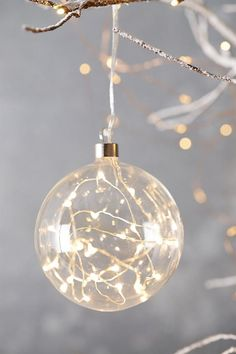 Terrain Stargazer Starry Glass Ball Ornament, Size One Size - White Noel Christmas, Homemade Christmas, Christmas Crafts, Christmas Bulbs, Christmas Decorations, Holiday Decor, Xmas, Clear Ornaments, Ball Ornaments