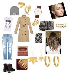 """Airport travel outfit. Edgy, but chic."" by ingeborghg on Polyvore featuring Genetic Denim, Chloé, By Malene Birger, Vans, Burberry, Daniel Wellington, Maybelline, Kate Spade, Cartier and Vince Camuto"