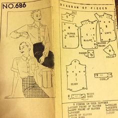 Next up on my list of vintage patterns to trace and make a muslin. I'm going for the short sleeves. #vintagepattern #vintagesewing #vintagesewingpattern #newyorkpattern #newyorkpattern686 #sewing #1930spattern #1930sblouse