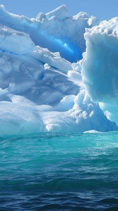 Antarctica Scenery | close up photo of iceberg white and blue colours