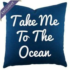 Bring a charming touch to your sofa or favorite reading nook with this handmade cotton pillow, featuring a coastal-themed typographic motif. Crafted in the U. True Feelings, Cotton Pillow, Room Themes, Joss And Main, Take My, Coastal Decor, Drink Sleeves, Decorative Pillows, Sweet Home