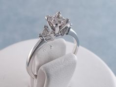 0.85 ctw Princess Cut Diamond Engagement Ring H VS2. For sale for $1,890 on our website www.bigdiamondsusa.com or call us at 1-877-795-1101 for more information.