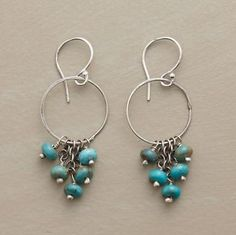 Dancing Turquoise Hoop Earrings @ StylinDays