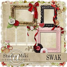 Scrapbookgraphics.com :: Elements :: Mats & Frames :: SWAK Cluster Frames