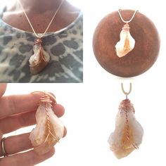 Citrine Necklace / Citrine Point Pendant / by CrystalSensation