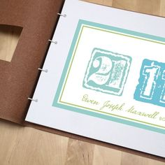 Children's Date Leather Album New Baby Presents, New Baby Products, Dating, Album, Leather, Quotes, Card Book