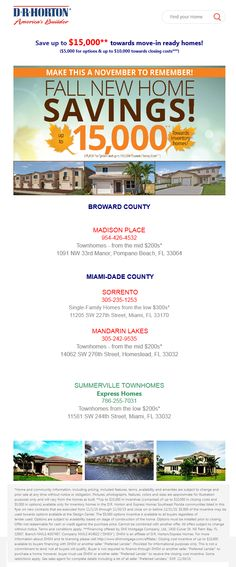 Get $15,000 incentives at Madison Place, Sorrento, Summerville Townhomes & Mandarin Lakes!