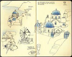Carnet de Croquis: Oia. par Lou le 12. avr, 2012 dans croquis, Voyage