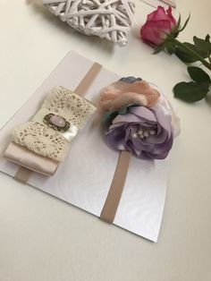 Excited to share the latest addition to my #etsy shop: Set of two baby (0-3 months) headbands - flower/bow