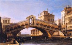 Capriccio of the Rialto Bridge with the Lagoon Beyond - Canaletto.  Art Experience NYC  www.artexperiencenyc.com/social_login/?utm_source=pinterest_medium=pins_content=pinterest_pins_campaign=pinterest_initial