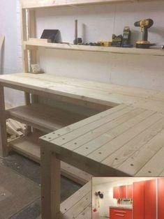 Garage Workbench Plans, Building A Workbench, Diy Workbench, Industrial Workbench, Folding Workbench, Garage Wall Shelving, Diy Garage Storage, Tool Storage, Storage Ideas