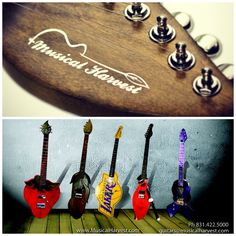 Custom Guitars of all Shapes, Sizes, and Colors! Follow @Musical Harvest and visit www.musicalharvest.com. Guitar quotes start at $1000 - email guitars@musicalharvest.com for your custom design quote today.