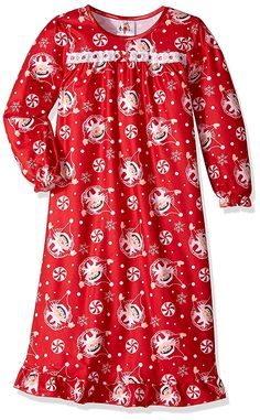 Elf on the Shelf Girls Flannel Granny Gown Nightgown Pajamas e093c0463