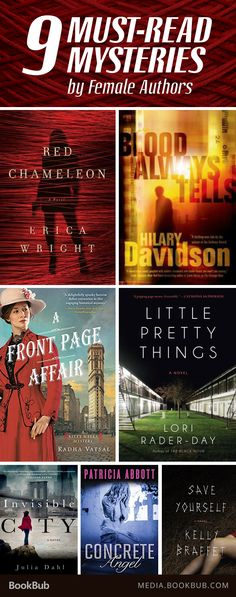 9 must-read mysteries by female authors. Perfect for fans of Agatha Christie, Sue Grafton, Mary Higgins Clark, Laura Lippman.