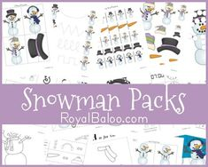 Toddler Activity - Snowman Packs