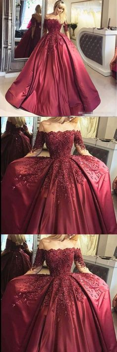 new fashions ball gown lace Prom dresses Formal Dress burgundy Prom Dresses Sexy off the shoulder satin Evening Gowns M0423#prom #promdress #promdresses #longpromdress #promgowns #promgown #2018style #newfashion #newstyles #2018newprom#eveninggowns#ballgowndress#laceprom#burgundypromdress#offshoulderprom#satinprom