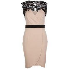 Feestelijke jurk met kanten details in het lichtroze van Little Mistress. Shop hier vanaf: €67,95 ♥