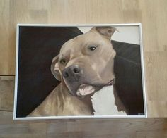 My brothers dog Kenzo <3 Painted with watercolour crayons from Derwent