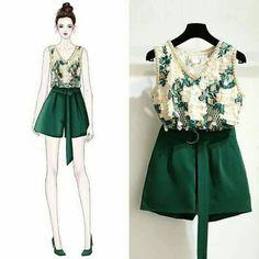Love the shorts! Korea Fashion, Asian Fashion, Girl Fashion, Womens Fashion, Fashion Design Drawings, Fashion Sketches, Fashion Drawing Dresses, Fashion Dresses, Cute Fall Outfits