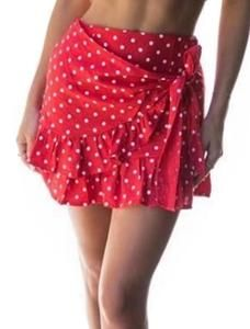 088f7fd7c3 YNC Fashion Women's Summer Casual Polka Dot Flare Short Mini A Line Skirt,  Red,
