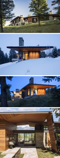 Carney Logan Burke Architects designed the Butte Residence in Jackson, Wyoming.