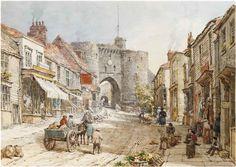 Figures before the Landgate, Rye