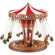 Musical Carousel Horses and Carnival Rides, Circus Tents, Roller Coasters, World's Fair Carnival Rides by Mr Christmas Christmas World, Mr Christmas, Vintage Circus, Vintage Toys, Carousel Musical, Antique Music Box, Vintage Music, Gold Labels, World's Fair
