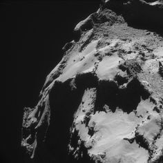 An image of the surface of Comet 67P/Churyumov-Gerasimenko, taken by the NavCam instrument on the Rosetta spacecraft on Oct. 26, 2014, and released on May 26.<br />