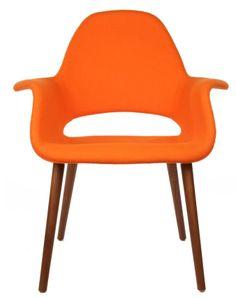 The Matt Blatt Replica Eames/Saarinen Organic Chair - Light Orange