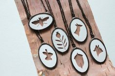 Silhouette Necklace by jennyleefowler on Etsy