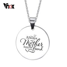 db8cbd25f Free Customized Engraving Dog Tag Love Necklace for Mom Silver Color  Stainless Steel Mother's Day Gift Colar Jewelry