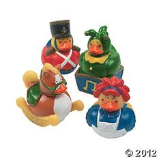 Classic toy rubber ducks