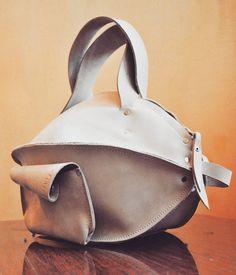 Swall leather milk pumpkin by @burtsevbags