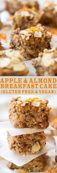 Almond & Apple Breakfast Cake! Who doesn't love having cake for breakfast, especially if it's gluten free and vegan!