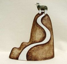Ceramics by Helen Hargreaves at Studiopottery.co.uk - 2012. Triple hump with sheep and path