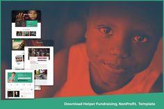 Nonprofit Fundraising, Web Ui Design, Non Profit, Website Template, Charity, Presentation, Photoshop, Design Templates, Envy