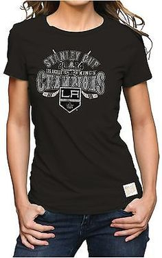 8aee33b501fd2 Los Angeles Kings Retro Brand Womens 2014 NHL Stanley Cup Champions T-Shirt