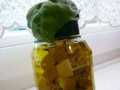 Zöld fűszeres feta sajt, olajban | Rita konyhája - receptek