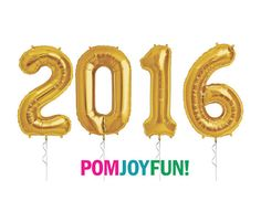 2016 Balloons 16 Inch Gold or Silver Foil Number by PomJoyFun