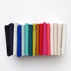 2019 Cotton + Steel Basics | Fat Quarter Bundle Fat Quarters, Dots, Stripes, Quilts, My Favorite Things, Cotton, Fabrics, Steel, Tent