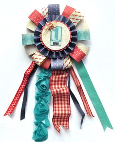 crepe paper summer award ribbon