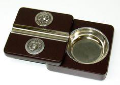 Twist-N-Go Travel Cigar Ashtray US Marines Marine Silver Emblem USMC - NEW