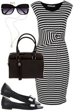 Monochrome Marvel Outfit includes Fujinella, Seafolly, and Misano Shoes at Birdsnest Online
