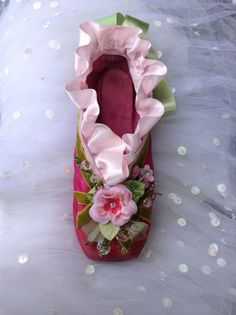 Items similar to Shabby Chic Repurposed decorated decorative Pointe Ballet Shoe Decoration Gift One of a Kind on Etsy Ballet Crafts, Shoe Crafts, Clothes Crafts, Pointe Shoes, Toe Shoes, Ballet Shoes, Dance Shoes, Shoe Painting, Ballet Fashion