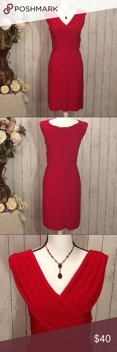 ⚡️FLASH SALE Scarlett Nite Red Dress Size 6 Petite Price is firm unless bundled - Stunning red dress by Scarlett Nite, Size 6 Petite, like new condition, $125 retail new, slimming design and fit, back zipper, pull on for easy fit, 95% poly, 5% spandex, perfect for a cocktail dinner, date night, girls night out or any other event to dress up in this gorgeous dress! Approx measurements: length from top of dress to bottom, 36 in, bust 34-36, waist 26-28, hip 36-38. Bundle to save! Scarlett Nite…