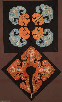 Two Cloud Collars, China, C. 1900. For upcoming fashion and textile auction.