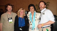 Elvis in Vegas! With Petey and Mr. Kemp. March 2012